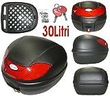 A-Pro 5180000072902Bauletto Moto Roller 30Lt Universal Custodia accoppiate angolare Box Valigetta opaco, nero