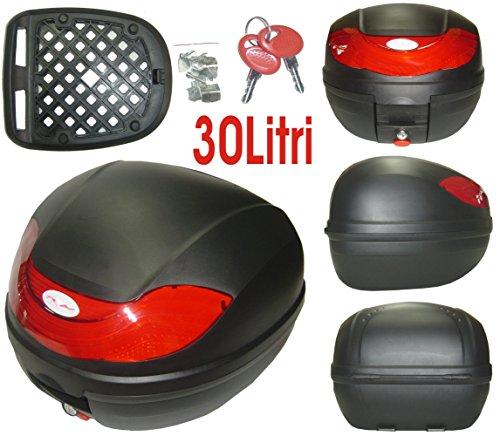 A-Pro 5180000072902 Topcase Motorrad Roller 30lt Universal Tasche Gepaeck Box Koffer Matt Schwarz -