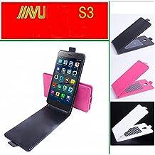 Prevoa ® 丨JIAYU S3 / S3 Advanced Funda - Flip PU Funda Cover Case para JIAYU S3 / S3 Advanced 5.5 Pulgadas Smartphone - Negro