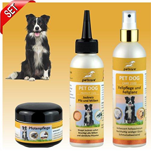 Hundepflege SET - Pilz & Milben, Fellpflege und Pfotenpflege - Peticare
