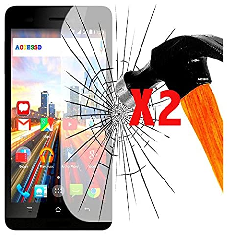 Film Vitre protection verre trempé X2 pour IPHONE 4S