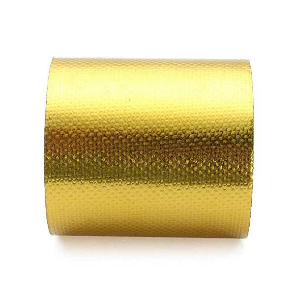 Sunwan – Cinta adhesiva de lámina dorada (10 x 5 cm), color dorado