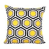 Longra Longra Geometrische Form Schlafsofa Home Decor Kopfkissenbezug Kissenbezug (Gelb)
