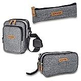eLITe Bags Federmäppchen mit Inlay und Tasche für Götter und Federn, für Insulin-Federn und Bitondruck.