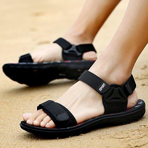 L'été, sandales pour hommes, des tendances, des chaussons pour hommes, veste, pied RDP, les chaussures de plage, Velcro 1520 red and white