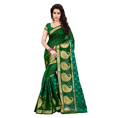 Shree Women's Cotton Silk Saree With Blouse Piece (Ppp104_Green)