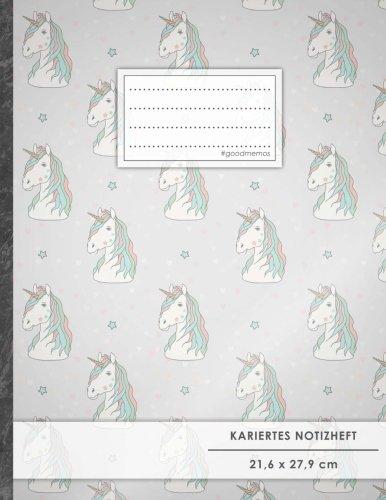 """Kariertes Notizbuch • A4-Format, 100+ Seiten, Soft Cover, Register, Mit Rand, """"Unicorn Hill"""" • Original #GoodMemos Quad Ruled Notebook • Perfekt als Tagebuch, Skizzenbuch, Notizheft, Matheheft"""