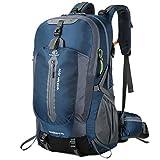 Lixada 50L Impermeabile Escursionismo Viaggio Zaino Laptop Daypack con Parapioggia Outdoor Camping Trekking Arrampicata Zaino per Uomini Donne