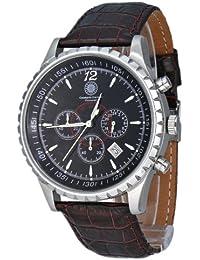Constantin Durmont Herren-Armbanduhr Aerotec CD-AERO-QZ-LT-STST-BK