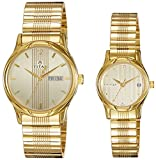 Titan 15802490YM05 Bandhan Analog Gold Dial Couple Watch (15802490YM05)