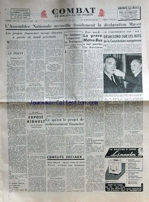COMBAT [No 2755] du 13/05/1953 - L'A...