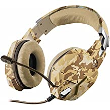 Trust Gaming GXT 322D Carus - Auriculares gaming stereo para PC, color desierto camuflaje