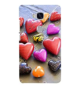 Vizagbeats heart stones Back Case Cover for Huawei Honor 5X