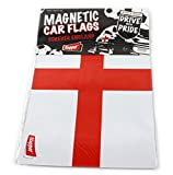 ENGLAND ST GEORGE MAGNETIC CAR DOOR FLAG 30CMS x 21CMS WORLD CUP FOOTBALL RUGBY (2)