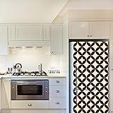 WALPLUS-Adesivi da Parete Circle Star Pattern 4Confezioni Frigo Decorazioni Rimovibile Adesivi Decalcomanie Arte Salotto Cucina mobili Arredamento Decorazione per la casa, ristoranti, Hotel