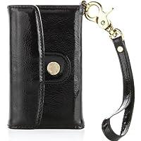 Pipetto P015-09 Luxury Patent Leder Wallet für Apple iPhone 4/4S schwarz