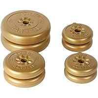 York Fitness Zubehör Vinyl Gewicht Set–Gold, 20kg