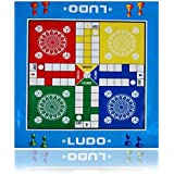 VAMIKA GIANT JUMBO SIZE Foldable LUDO Toy Game Foam Mat with Push Button Dice shaker cum Roller size (32*27)inch New Latest Design Indoor cum Outdoor Game Best for Birthday gift / Return gift.(Multicolour)