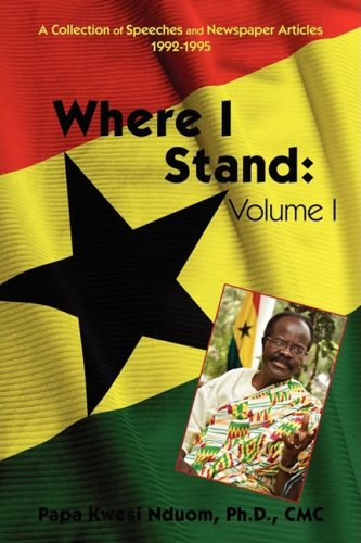 Where I Stand: Volume I: A Collection of Speeches and Newspaper Articles 1992-1995