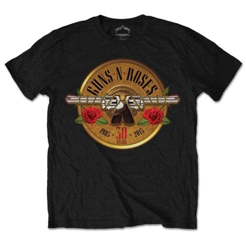 Guns N Roses Men's 30th Photo Logo Short Sleeve T-Shirt