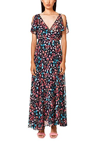 ESPRIT Collection Damen Partykleid 038EO1E022, Blau (Navy 400), 40