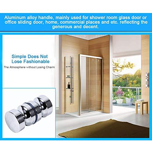 51wqxI7YBKL - Tirador para puerta de muebles Manija de puerta de la aleación de aluminio para el gabinete de la ducha del cuarto de baño del botón de cristal solo