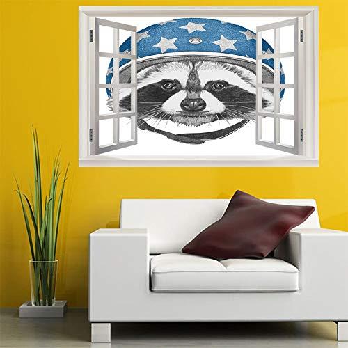 3D Fenster Wandtattoo Wandaufkleber Gebrochenes Loch (60X90 Cm) leder stiefel Schlafzimmer Zimmer Landschaft kinderzimmer Wanddekoration Dekoration
