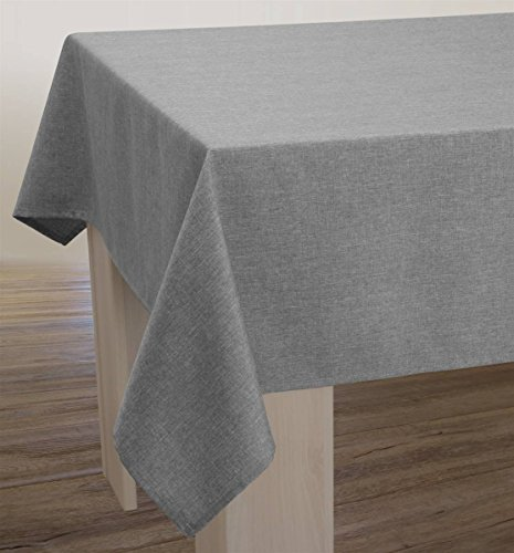 Nappe Unie - Anti-taches Gris - taille : Rectangle 150x200 cm