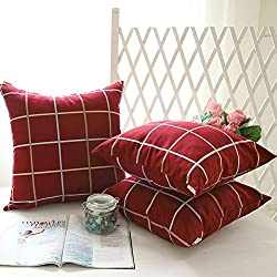 almohada de Oficina/almohada/coche/cintura cojín del sofá/Almohada grande de la tela escocesa--uno-A 30x45cm(12x18inch)VersionB