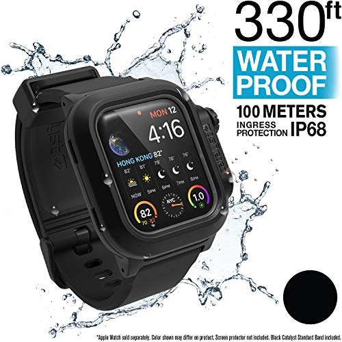 Catalyst Aufprallschutz,Stoßfeste Hülle für Apple Watch 40mm, Serie 4 - Schwarz