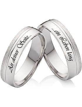 Eheringe Verlobungsringe Trauringe aus 925 Silber mit kostenloser Lasergravur SL59
