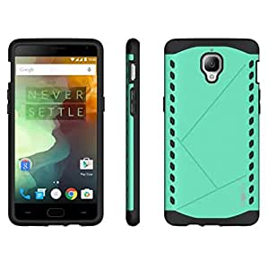 Heartly Hybrid Slim Dual Layer Hard Rugged Shock Proof Tough Armor Bumper Back Case Cover For OnePlus 3T / OnePlus 3 / One Plus 3 - Glowing Green