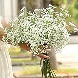 Kangrunmy Artificielle Gypsophile Fleur Fausse Soie Mariage Bouquet Maison DéCor Blanc Artificielle Blanche + Plastique 66Pcs Flowers
