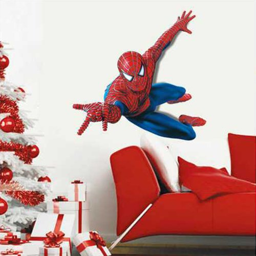 Image of Huge Large Spiderman Wall Stickers Children Boys Bedroom Decal art Mural Decor