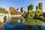 Posterlounge Acrylglasbild 180 x 120 cm: Weinstadel und Wasserturm in Nürnberg von Dieterich Fotografie - Wandbild, Acryl Glasbild, Druck auf Acryl Glas Bild