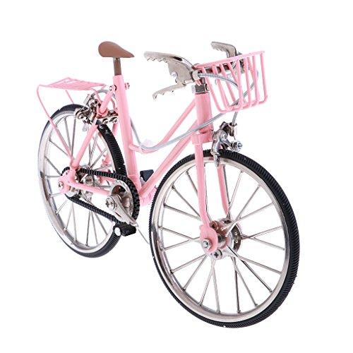 Baoblaze 1:10 Miniatur Fahrrad Rennrad Mountainbike Bike Fahrzeuge Modell, Puppenstube Puppenmöbel Gartendeko - Rosa -