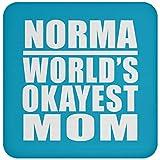 Norma World's Okayest Mom - Drink Coaster Turquoise/One Size, Untersetzer Bierdeckel Rutschsicher Kork Korkunterschicht