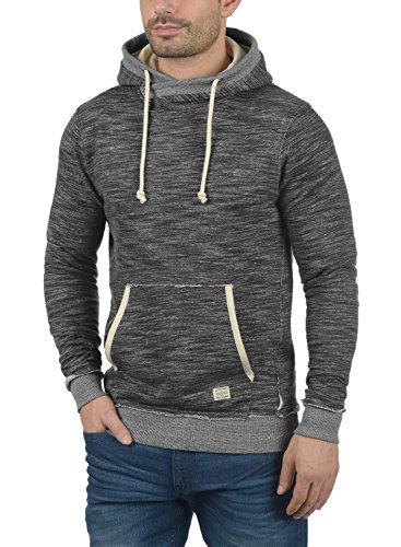 BLEND Clive Herren Kapuzenpullover Hoodie Sweatshirt aus 100% Baumwolle Meliert Charcoal (70818)