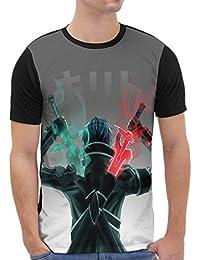 VOID Kirito Grafik T-Shirt Herren All-over Druck anime sword schwert