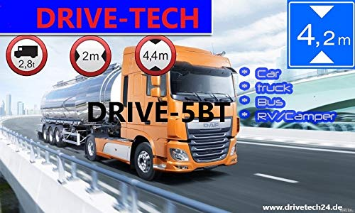 5-Zoll-GPS-Navi-Navigationsgert-DRIVE-7BT-Fr-LKWPKW-BusWOHNMOBIL-und-Camper-Radarwarner-Kostenlos-Map-Update-INKLUSIV-Bluetooth-AV-IN-Gefahrgut-Fahrspurassistent
