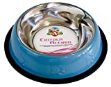 Croci C6059204 Ciotola Acciaio per Gatti o Cani, Multicolore