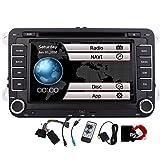 7-Zoll-HD-DVD-Spieler Navi GPS-Stereoradio Autoradio mit Bluetooth und Navigation f¨¹r VW Volkswagen Jetta Passat Tiguan Golf GPS Video Freie 8GB Karte Doppel-DIN Automoive Head Unit + Canbus