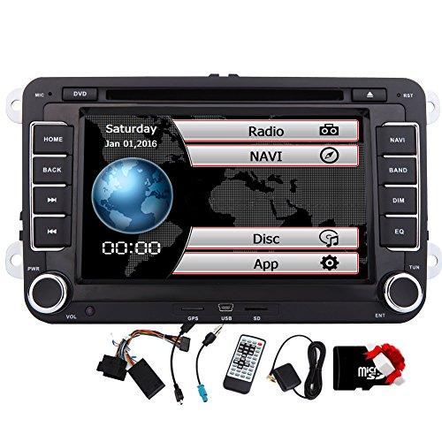 EINCAR 7-Zoll-HD-DVD-Spieler Navi GPS-Stereoradio Autoradio mit Bluetooth und Navigation f¨¹r VW Volkswagen Jetta Passat Tiguan Golf GPS Video Freie 8GB Karte Doppel-DIN Automoive Head Unit + Canbus