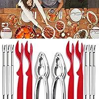 BESTEU 12 Unids/set Herramientas de mariscos Cangrejo Tenedor Galletas Pescado Abierto Mariscos Langosta Langosta Accesorios de cuchillo de cocina
