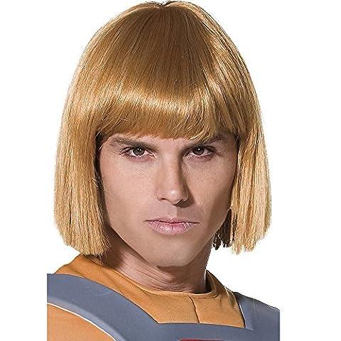 He-Man Perücke Blond, One Size (He-man-kostüm Für Kinder)