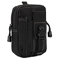 Tactical Molle Pouch,Vdealen EDC Utility Gadget Pouch Waist Belt Bag with Cell Phone Holster Holder for iPhone 8 7 6s Plus 5S Samsung Galaxy S7 S6 LG HTC and More, Suitable for Running Hiking Camping Outdoor Activities