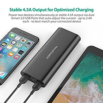 Ravpower Portable Charger 16750mah Upgraded Power Bank 4.5a Dual Usb Output Ultra External Battery Pack For For Iphone, Samsung Galaxy, Tablets & More – Black 4