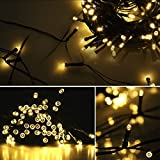 Lamker Led Solar Power Fairy String Lights Outdoor Decorative Light 100 LEDs 12 Meters Waterproof with Light Sensor for Garden Home Wedding Party Christmas Halloween Warm White
