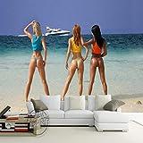 3D Fototapete Large Entertainment Ktv Bar 3D Wandbild Wohnzimmer Schlafzimmer Wallpaper-400Cmx280Cm