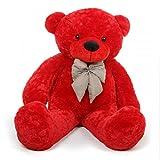 #8: Pihu Enterprises Soft Teddy bear Red Color 3 Feet Long (91 CM)